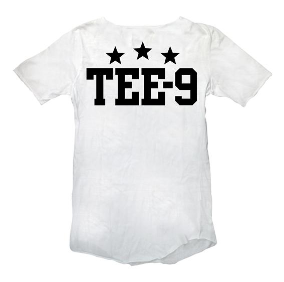 Tee 9 Tristar Back White