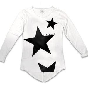 Tee-Nove Felpa frac stars bianca