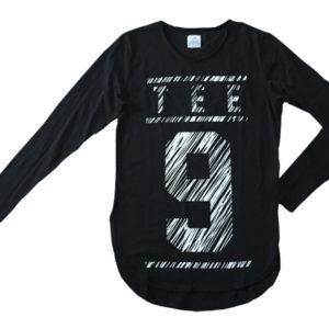 Maglia maniche lunghe scratch nera # Tee-Nove