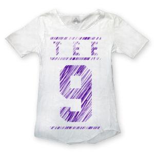 T-shirt scratch bianca # Tee-Nove