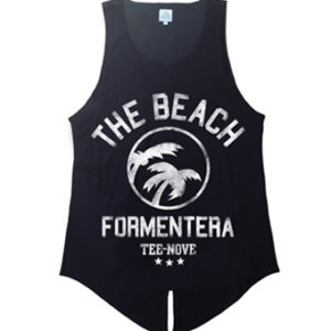 Canotta The Beach Formentera Tee-Nove - black