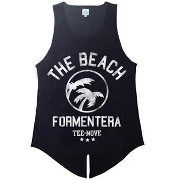 Canotta The Beach Formentera Tee-Nove - black