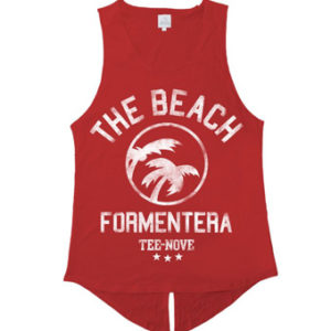 Canotta The Beach Formentera Tee-Nove - red