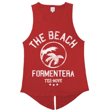 Canotta The Beach Formentera Tee-Nove - red
