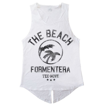 Canotta The Beach Formentera Tee-Nove - white