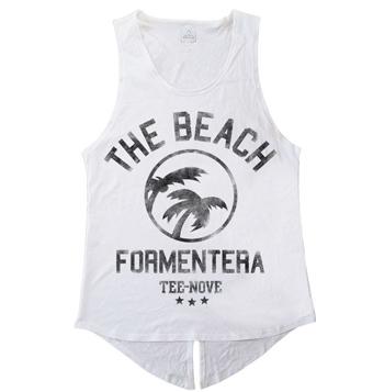 Canotta The Beach Formentera Tee-Nove - white