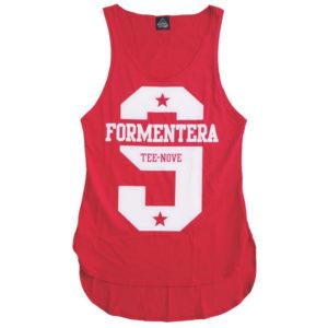 Canotta Tee-Nove Formentera red