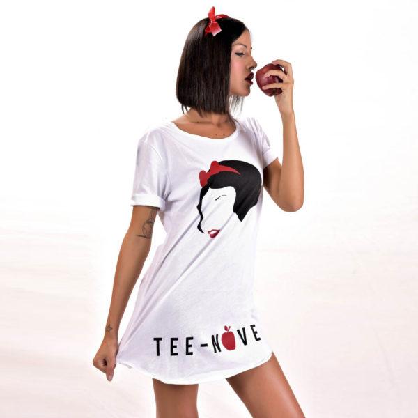 Tee-Nove T-shirt White snow